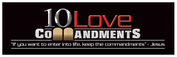 10 Love Commandments Bumper Sticker