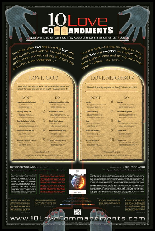 10 Love Commandments Poster